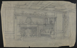 Corners (?) of Dining Room Showing Alcove, House for Francis H. Dewey, Esq., undated