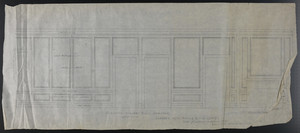 Elevation Toward Hall and Elevation Towar [sic] Chamber, Room Adjoining Chamber Over Dining Room (2nd fl.), undated