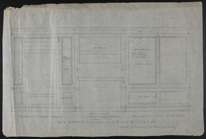 (Developed) Elevation Toward Window, Elevation Toward Mantel and Elevation Opposite Chamber, Room Adjoining Chamber Over Dining Room (2nd fl.), House of Charles S. Hamlin, Esq., undated