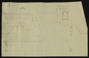 Unfinished detail drawings, townhouse of Charles S. Hamlin, 2 Raleigh Street, Boston, Mass., undated