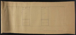 Window Elevation of Library, Inch Scale, House of C.S. Hamlin Esq., undated