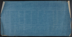 Elevation Toward Windows (Developed), Chamber Over Dining Room (2nd fl.), undated