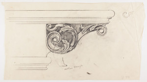 "Column capital detail, full scale, residence of F. K. Sturgis, ""Faxon Lodge"", Newport, R.I."