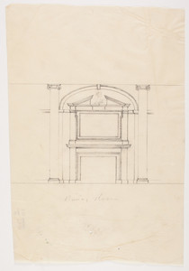 "Dining room fireplace, 1/2 inch scale, residence of F. K. Sturgis, ""Faxon Lodge"", Newport, R.I."