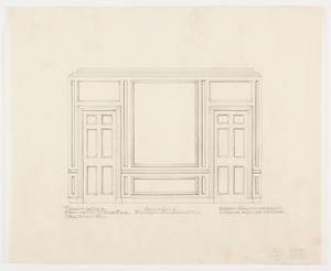 "Bed room over drawing room elevation, 1/2 inch scale, residence of F. K. Sturgis, ""Faxon Lodge"", Newport, R.I."