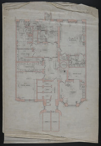 Basement floor plan, alterations to the townhouse of John S. Ames, 3 Commonwealth Avenue, Boston, Mass., undated