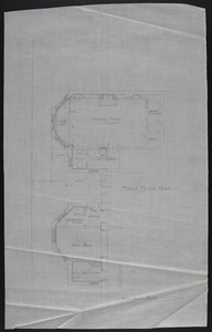 Basement Plan and First Floor Plan, undated