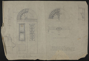 Detail of Iron Grills, Alt. & Add., House of Mr. John S. Ames, 3 Commonwealth Ave., Boston, Mass., undated