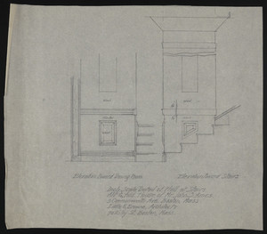 Inch Scale Detail of Hall at Stairs, Alt. & Add., House of Mr. John S. Ames, 3 Commonwealth Ave., Boston, Mass., undated