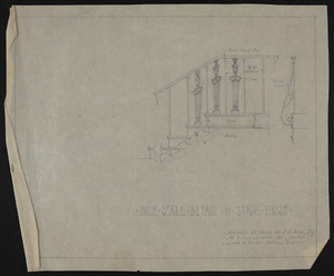Inch Scale Detail of Stair Finish, Alteration of House of J.S. Ames, Esq. at 3 Commonwealth Ave., Boston, undated