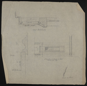 Untitled detail drawings, alterations and additions to the house of John S. Ames, 3 Commonwealth Avenue, Boston, Mass., undated