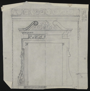 Untitled detail drawing, house for John S. Ames, 3 Commonwealth Avenue, Boston, Mass., undated