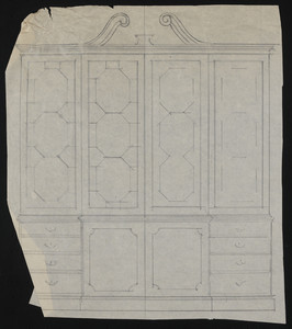 Unfinished drawing of furniture, house for John S. Ames, 3 Commonwealth Avenue, Boston, Mass., undated