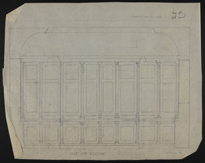 elevation and plan own chamber fireplace ames house undated