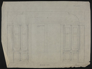 Window Side, Chamber over dining room (Lib?), 3 Com. Ave., undated