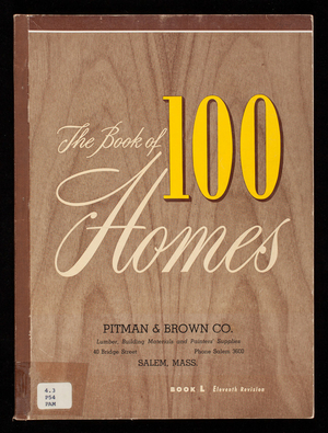 Book of 100 homes, book L 11th revision, Pitman & Bown Co., Salem Mass.