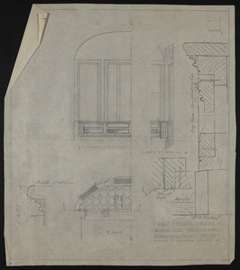 "1/2"" Scale of Radiator Covering in Smoking Room, House of J.S. Ames, 3 Commonwealth Ave., Boston, undated"