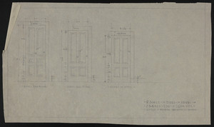 "1/2"" Scale of Doors in House of J.S. Ames, Esq., at 3 Com. Ave., undated"