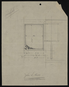 Unfinished drawing for the house of John S. Ames, 3 Commonwealth Avenue, Boston, Mass., undated