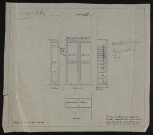 "1/2"" Scale Detail of Wardrobe in Own Dressing Room, House of J.S. Ames Esq., 3 Comwlth Ave., undated"