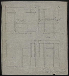 "1/2"" Scale Elevations of Own Dressing Room, House of J.S. Ames, Esq. at 3 Commonwealth Ave., undated"