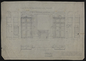 "1/2"" Scale Details of Wardrobes in Own Room, House of J.S. Ames, Esq., 3 Commonwealth Ave., Boston, undated"