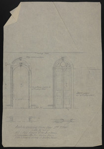Arch & Dressing Room Door, 2nd Floor, Alt. & Add., House of Mr. J.S. Ames, 3 Commonwealth Ave., Boston, Mass., undated