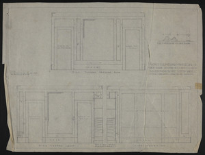"1/2"" Scale Elevations of Panelling in Own Room, House of J.S. Ames Esq. at 3 Commonwealth Ave., Boston, Mass., undated"