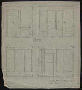 "1/2"" Scale Elevations of Rear Dressing Rm, House of J.S. Ames, Esq. at 3 Com'w'lth Ave., undated"