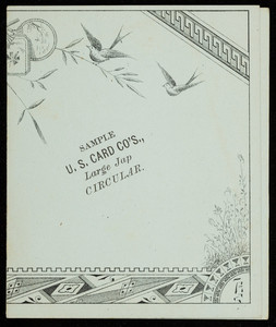 Price list for the U.S. Card Company, Providence, Rhode Island, 1879