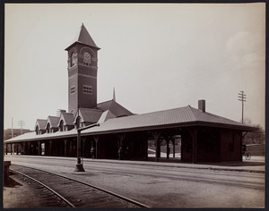 Railroad station, Waltham, Massachusetts