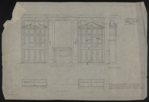 "1/2"" Scale of Wardrobe in Guest Room, 2 Fl., House of J.S. Ames Esq. at 3 Com'w'lth Ave., undated"