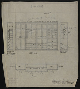 1/2 Inch Scale Detail of Wardrobe in Second Story Hall, House of J.S. Ames Esq., Boston., undated