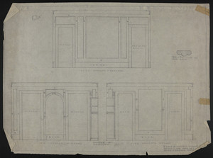 "1/2"" Scale Elevations of Guest Room, Second Floor, House of J.S. Ames, undated"