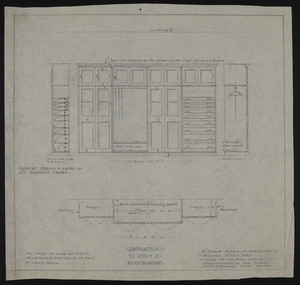 "1/2"" Scale Detail of Wardrobe in Second Story Hall, House of J.S. Ames Esq. at 3 Commonwealth Ave., Boston, undated"