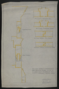 Full Size Details of Wardrobe in Own Dressing Room, House of J.S. Ames Esq. at 3 Com'w'lth Ave., undated