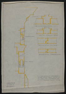 Full Size Details of Wardrobe in Second Story Hall, House of J.S. Ames Esq., 3 Com'w'lth Ave., undated