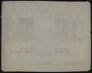 "1/2"" Scale Detail of Wardrobe in Children's Room #1, House of J.S. Ames Esq., #3 Com. Ave., undated"