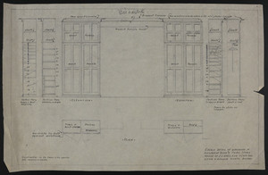 "1/2"" Scale Detail of Wardrobe in Children's Room #1, Third Story, House of J.S. Ames Esq., 3 Com. Ave., undated"