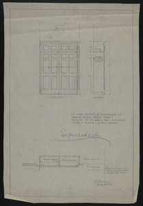 "1/2"" Scale Detail of Wardrobes in Guest Room, Third Floor, House of J.S. Ames Esq., 3 Com. Ave., undated"