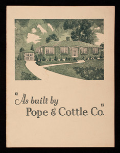 As built by Pope & Cottle Co., Revere, Mass.
