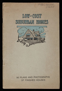 Low-cost suburban homes, designs and pictures of suburban houses that have been built at costs ranging from $1,000 to $10,000, House & Garden, John C. Winston Co., Philadelphia, Pennsylvania