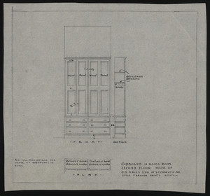 Cupboard in Maids Room, Second Floor, House of J.S. Ames Esq. at 3 Com'wlth Ave., undated
