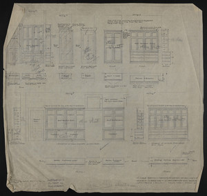 "1/2"" Scale Details of Servants Wardrobes, Broom Closets, Etc., House of J.S. Ames, Esq. at 3 Commonwealth Ave., Boston, undated"