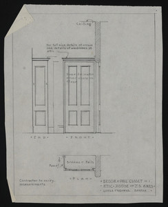 Broom & Pail Closet in Attic, House of J.S. Ames, undated