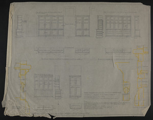 "1/2"" Scale & Full Size Details for Wardrobes in Attic, House of J.S. Ames Esq. at 3 Commonwealth Ave., undated"