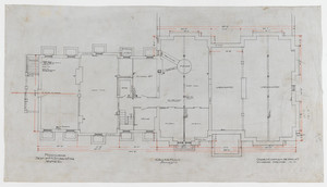 "Cellar plan, 1/4 inch scale, residence of F. K. Sturgis, ""Faxon Lodge"", Newport, R.I."