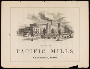 View of the Pacific Mills, Lawrence, Mass., July 14, 1860