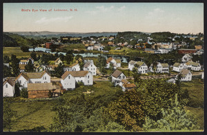 Bird's Eye View of Lebanon, N.H., undated