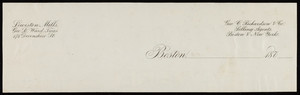 Letterhead for Geo. C. Richardson & Co., selling agents, Boston and New York, 1870s